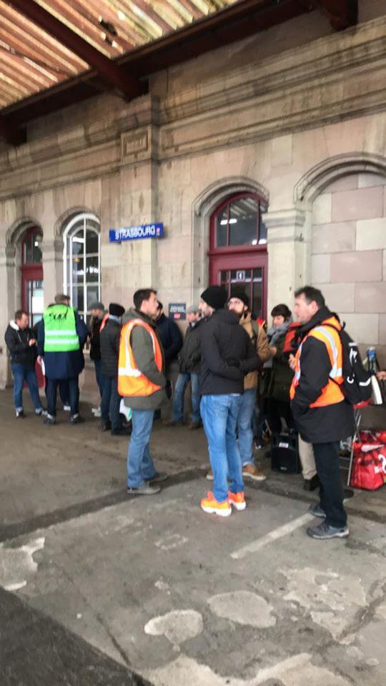 Reconduction de la grève des cheminots à Strasbourg