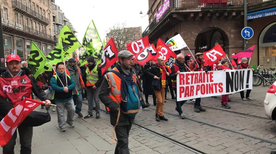 Encore 1200 manifestants ce 14 janvier à Strasbourg