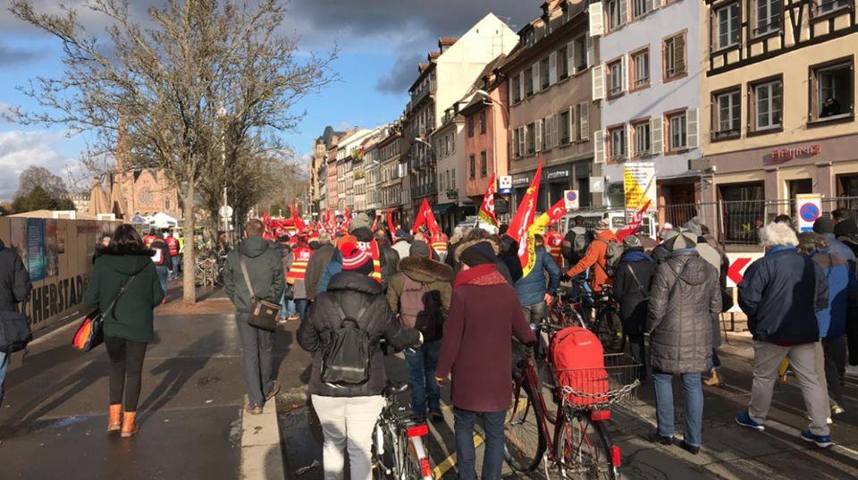 1300 manifestants à Strasbourg contre la casse des retraites