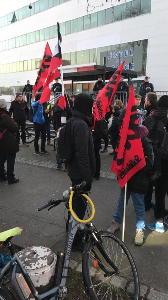 1500 à 2000  à la manifestation intersyndicale à Strasbourg