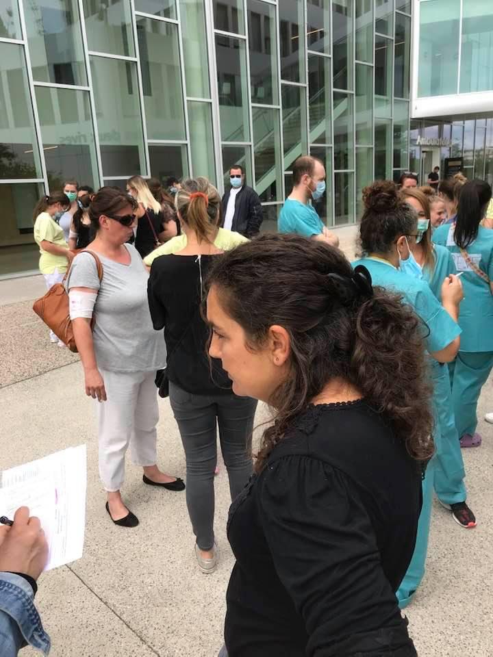 Grève et manifestation des soignant.e.s du privé et du public