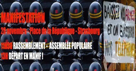 Strasbourg: mobilisation générale le 28 novembre et le 5 décembre