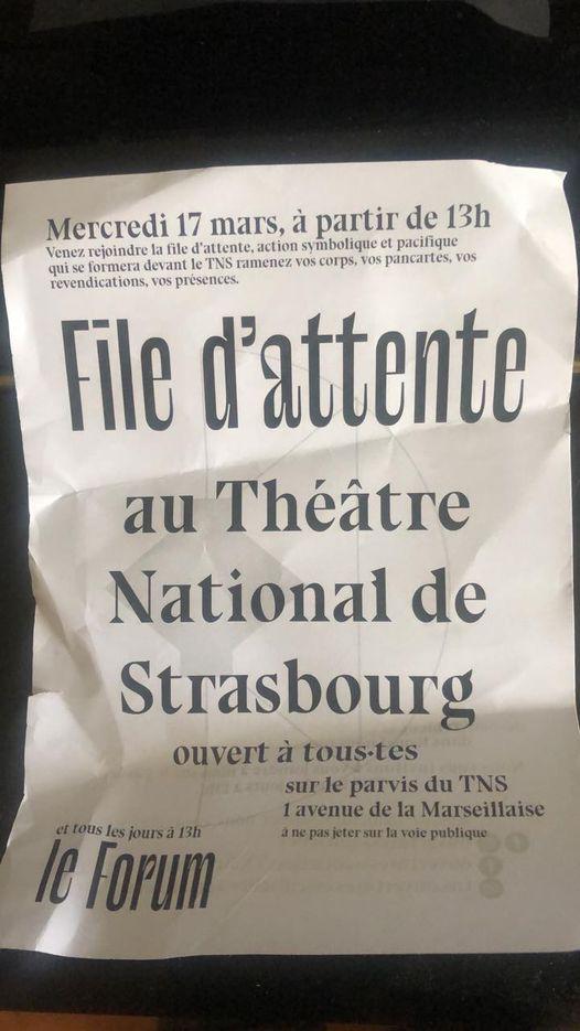 TNS Strasbourg: Jeunesse sacrifiée, culture en danger
