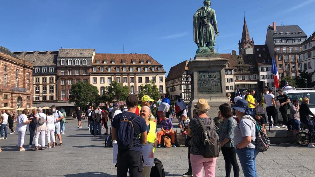 Entre 1500 et 2000 manifestants contre le passe sécuritaire et l'obligation vaccinale à Strasbourg