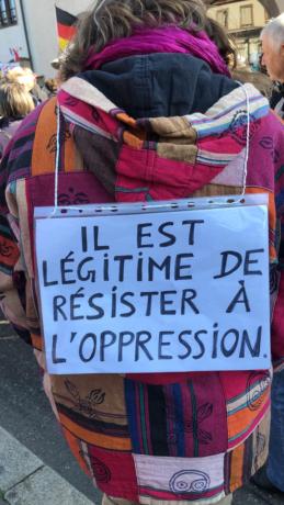 Manifestants gazés au début de la Marche sans flambeaux à Strasbourg