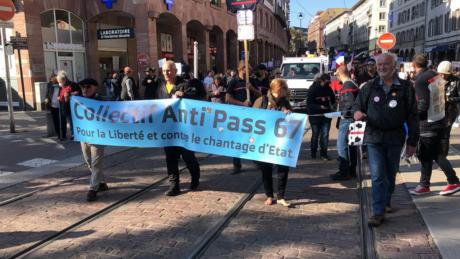 Un millier contre le passe sanitaire à Strasbourg