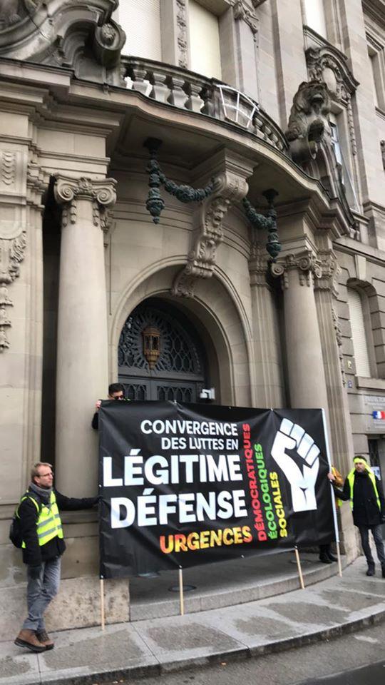 Acte 56 Strasbourg 300 manifestants, gilets jaunes, syndicalistes et jeunes