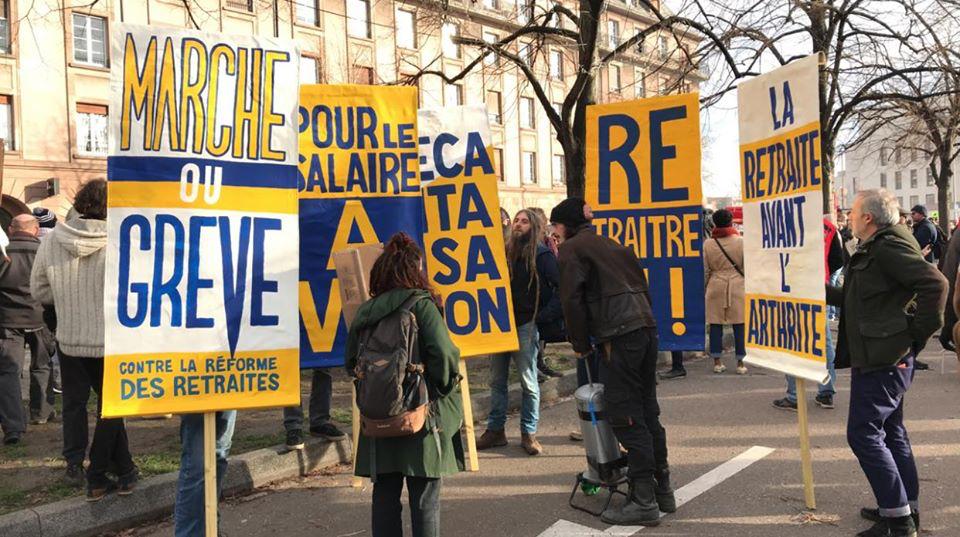 8500 manifestants à Strasbourg et une Ag interpro