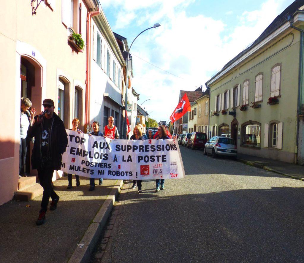 6e jour de grève des facteur.trice.s de Villé !